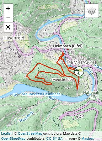 heimbach eifel karte Heimbach Wanderungen Rureifel   der eifelyeti.de